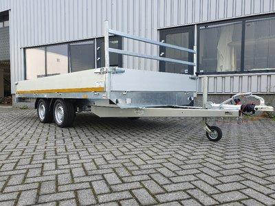 i. Plateauwagen 400x200cm - 3500kg - 63cm- dubbelas