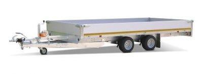 g. Plateauwagen 400x180cm - 3500kg - 63cm- dubbelas
