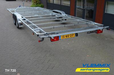 Tiny House dubbelas trailer met platform afmeting 780x244cm en 3500kg as.