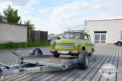 WOM 1500kg verlaagbare aanhangwagen met afmeting 301x169cm