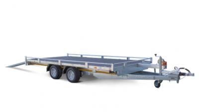 Multitransporter 400x200cm - 2700kg - 56cm- dubbelas - Incl. rijplaten en lier