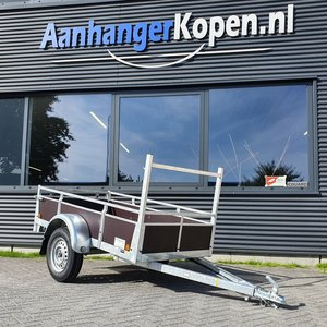 Enkelas ongeremde bakwagen 200x110cm - 750kg [Incl. wettelijk COC papier]