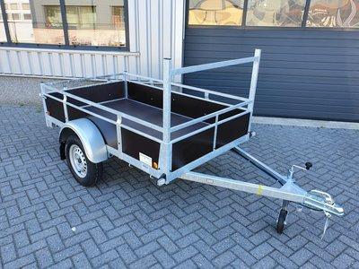 Enkelas ongeremde bakwagen 225x132cm - 750kg [Incl. wettelijk COC papier]