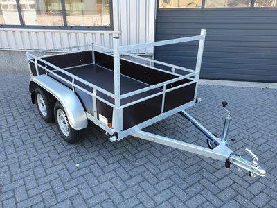 Dubbelas ongeremde bakwagen 257x132cm - 750kg [Incl. wettelijk COC papier]