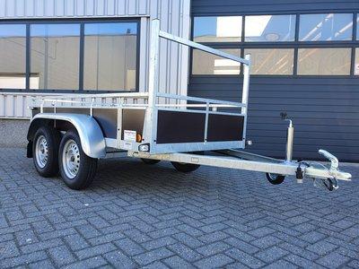 Dubbelas ongeremde bakwagen 307x157cm - 750kg [Incl. wettelijk COC papier]