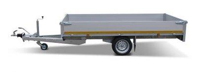Plateauwagen 310x160cm - 1500kg - 56cm - enkelas