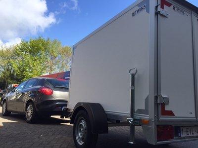 257x157x150cm Gesloten aanhangwagen enkelas