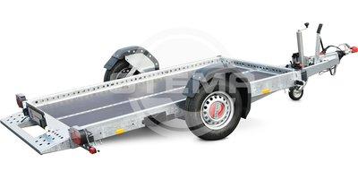 Stema WOM1800 hydraulisch zakkende aanhangwagen met schokbrekers en pomp