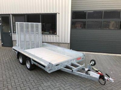 Hulco Machinetransporte 394x180cm 3000kg dubbelas - klep 150cm