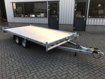 Showroom model op=op - Laadvloer 62cm - 405x200cm - dubbelas - 3000kg
