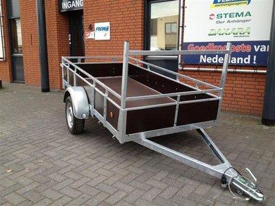 Enkelas ongeremde bakwagen 257x132cm - 750kg