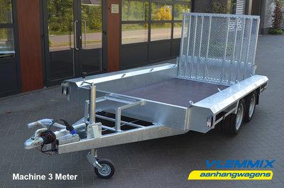 Machinetransporter 300x150cm - 3500kg - Type S - dubbelas