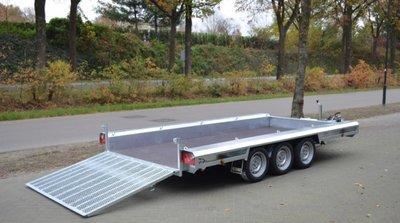 Machinetransporter 400x180cm - 3500kg - Drieasser - 3x 1500kg