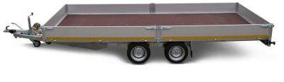 l. Plateauwagen 500x200cm - 2700kg - 63cm- dubbelas -